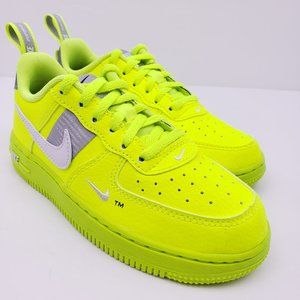 NEW Nike Air Force 1 Utility Volt LV8 Toddler Shoe